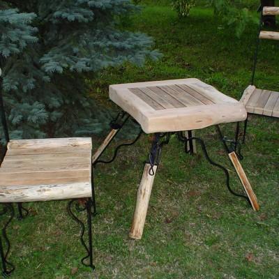 Stolik i krzesła na taras